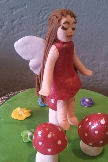 Red fairy, floating